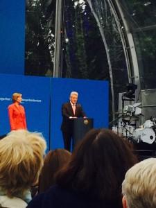 Bundepräsident Joachim Gauck und seine Lebensgefährtin Daniela Schadt