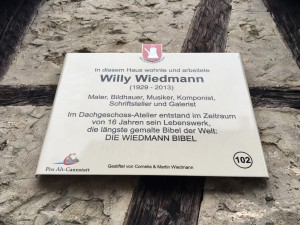 Gedenktafel Willy Wiedmann